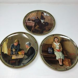 NORMAN ROCKWELL Knowles Plates 1985 1st 3rd 6th